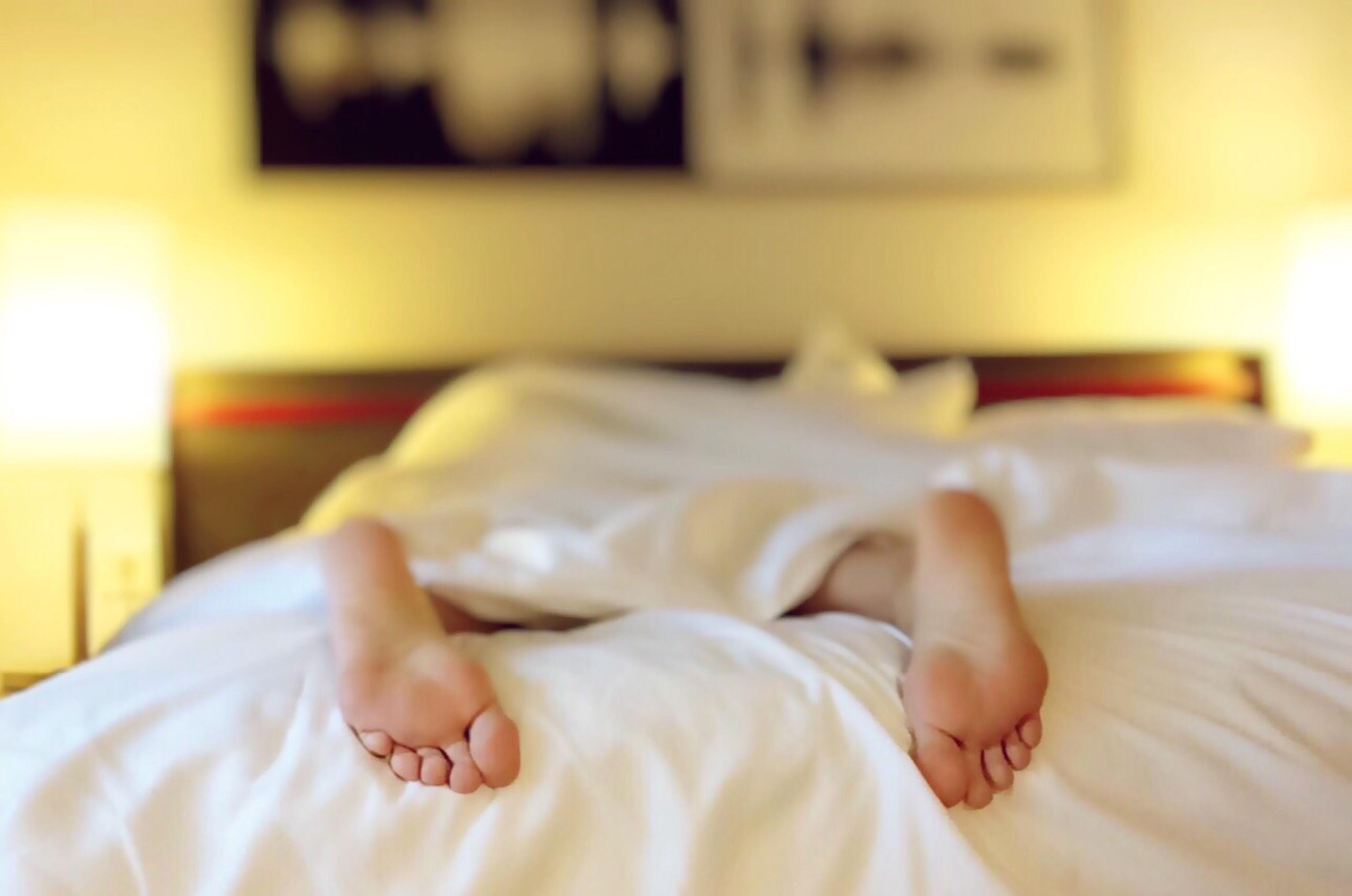 ベッドの足
